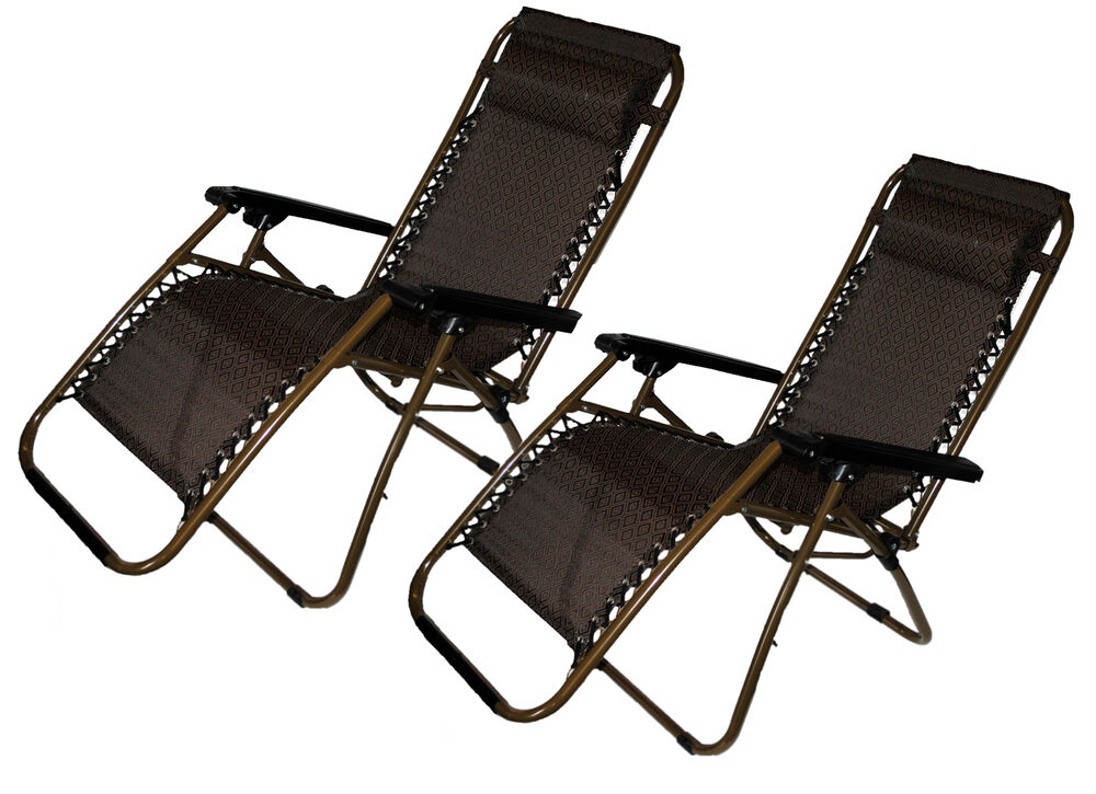 Set Of 2: Zero-Gravity Beach Lawn And Yard Patio Chair