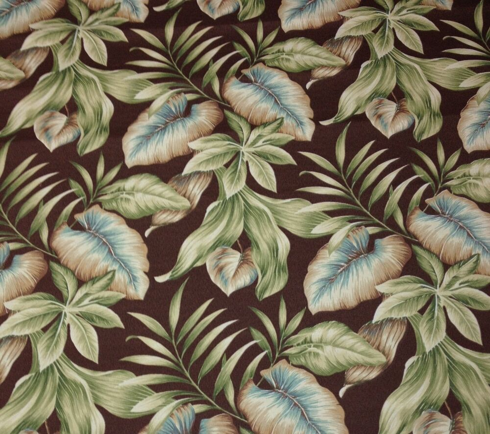 Richloom lakefront woodland leaf tropical outdoor for Outdoor furniture fabric