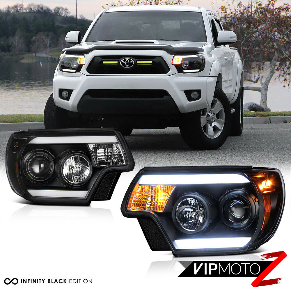 2012 2015 toyota tacoma tribal black led headlight trd. Black Bedroom Furniture Sets. Home Design Ideas
