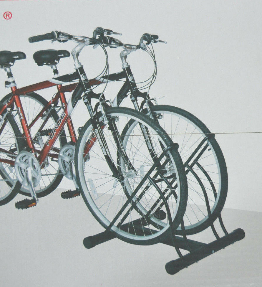 Two Bicycle Bike Stand Racor Garage Floor Storage