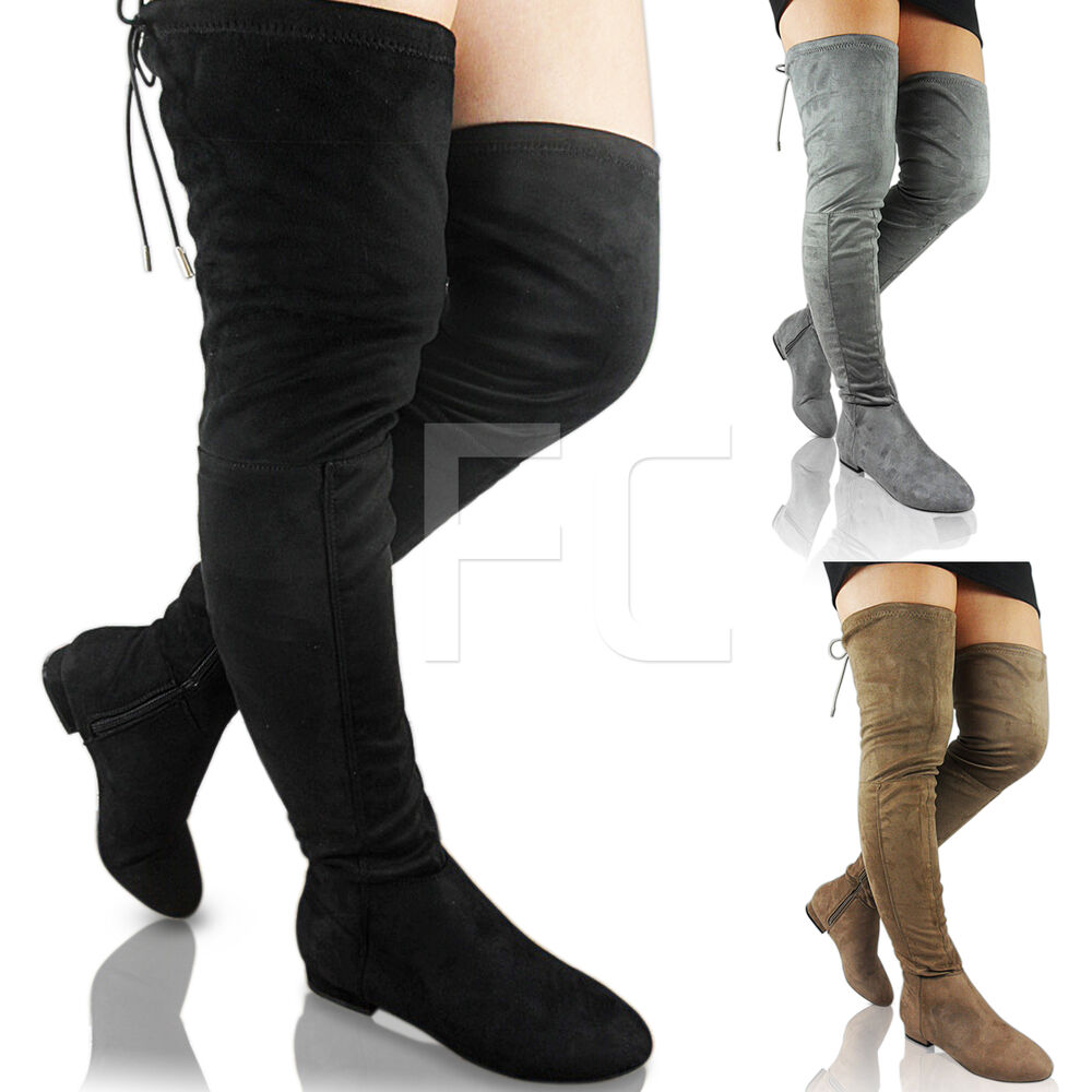 Thigh high boots are a surefire way to spice any women outfit up a little bit. Here at FUNkyPair, we carry a wide range of style that can help you feel more desirable. Our sexy thigh high boots come in a variety of colors, styles plus large sizes. They are often considered to be kinky boots, used as fetish clothing in boot fetish and shoe fetishism.
