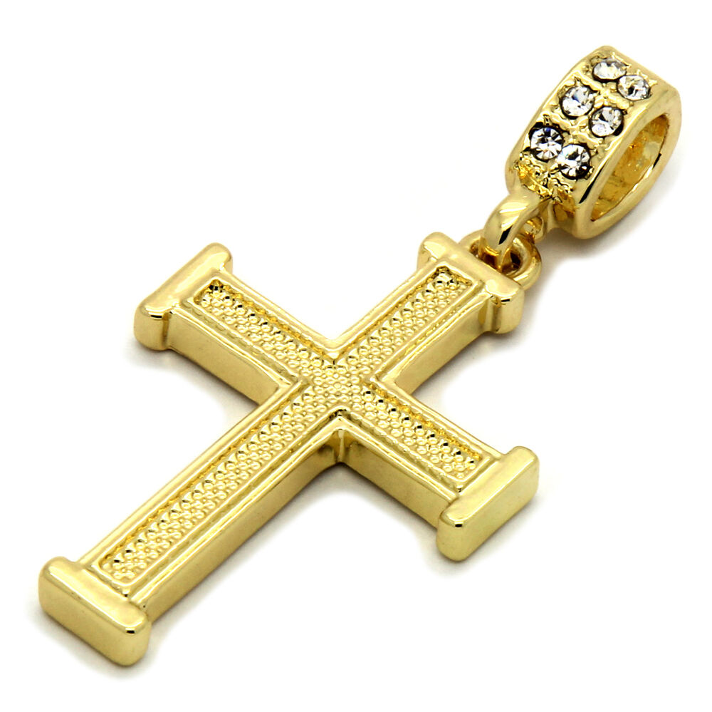 mens 14k gold plated staple wired cross pendant with 24. Black Bedroom Furniture Sets. Home Design Ideas