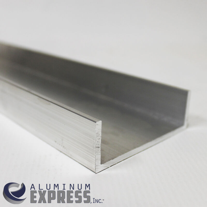 3 Quot X 1 Quot Aluminum Channel 6063 1 8 Quot Wall 60 Quot Long Ebay