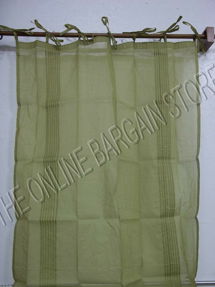 2 Pottery Barn Marquesa Window Sheers Drapes Curtains Panels 42x84 Tie Top Ebay