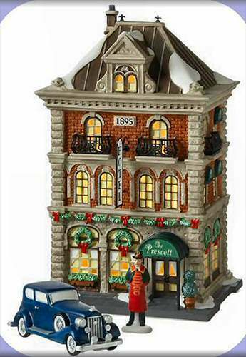 department 56 christmas in the city the prescott hotel. Black Bedroom Furniture Sets. Home Design Ideas