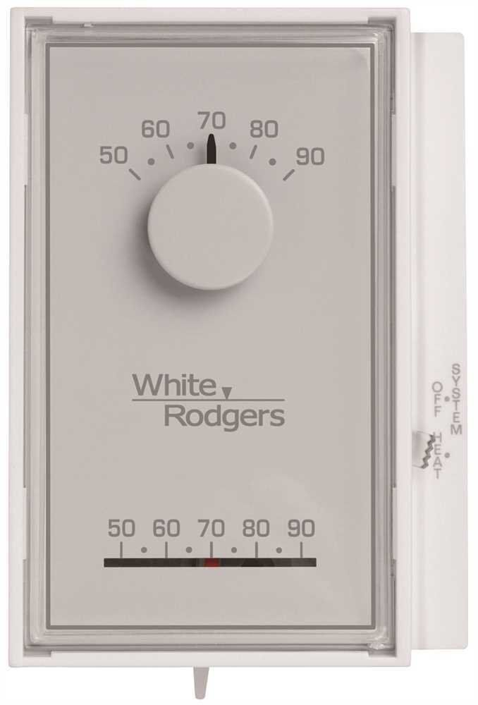 white rodgers 1e50n 301 single stage mechanical thermostat ebay
