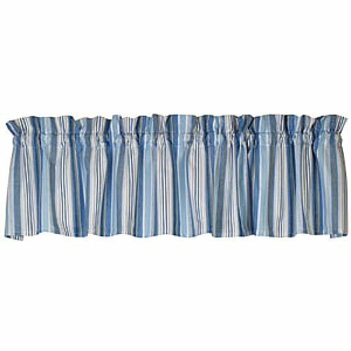 New Cottage Chic Beach House Cape Cod Blue Grey Striped