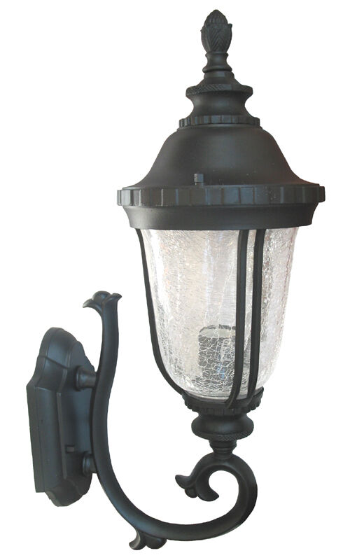 Black Lantern Wall Sconces : Outdoor Exterior Light Fixture Lantern Cast Aluminus Wall Sconce Black WU eBay