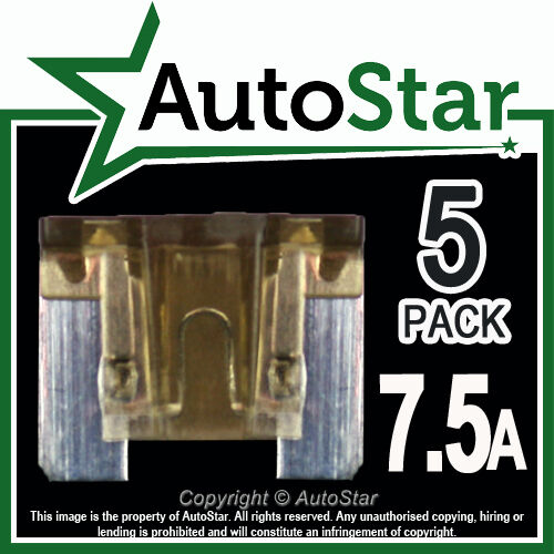 7 5-amp Micro Fuses X 5  U2013 Automotive Fuse
