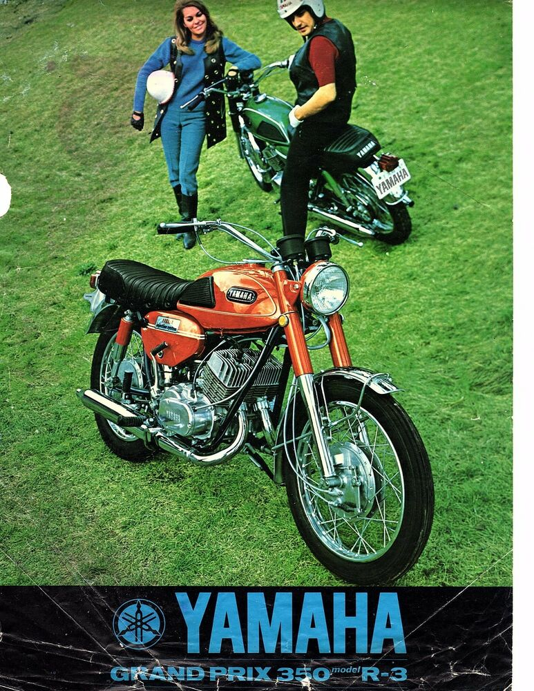 1969 yamaha 350 grand prix model r 3 original sales brochure reprint ebay. Black Bedroom Furniture Sets. Home Design Ideas