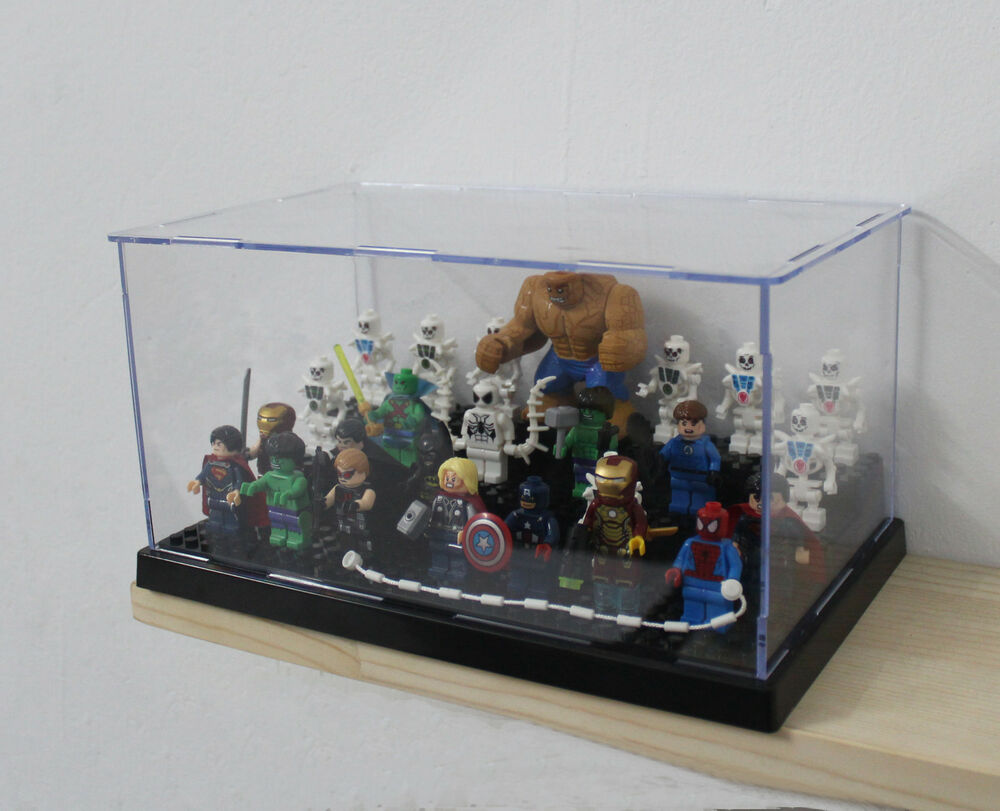 X1 Black Display Case For Lego Minifigure Collector S