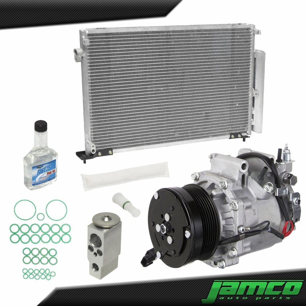 New Ac Compressor And Condenser Kit For A  C 08
