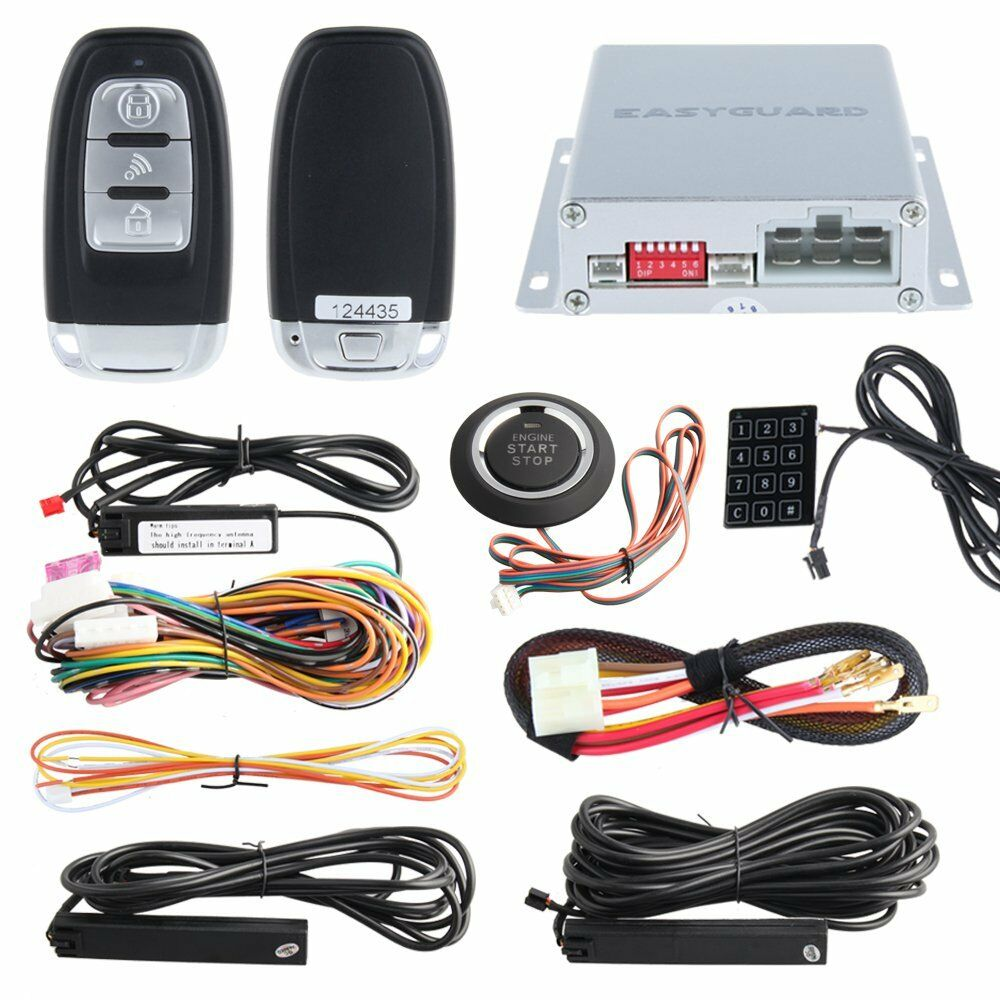 Rfid Pke Car Alarm System Keyless Entry Remote Start