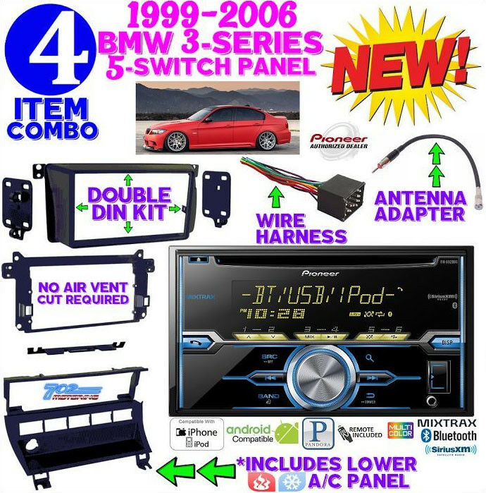 bmw e46 double din car stereo radio installation dash kit. Black Bedroom Furniture Sets. Home Design Ideas