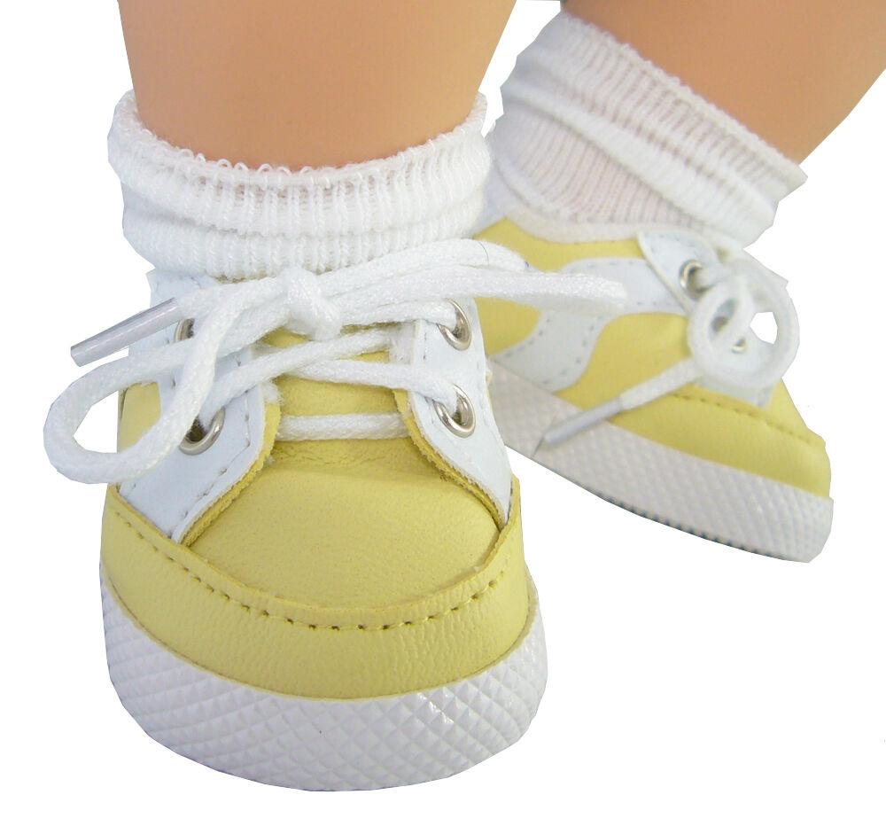 For Bitty Baby Dolls Yellow Gym Shoes Doll Clothes 2 5 8
