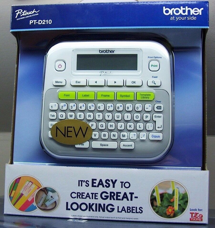 Brother P Touch Pt D210 Label Maker Just 9 99 Reg 39 99: New Brother P-Touch PT-D210 Label Maker Labeler