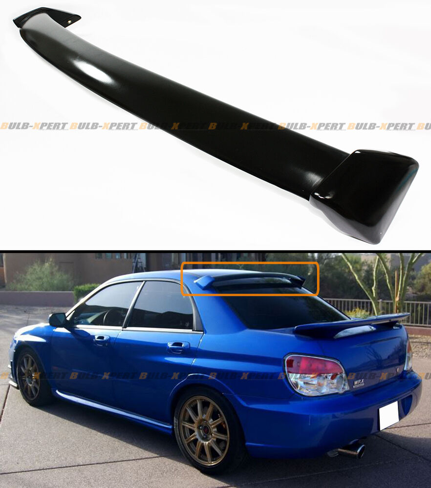 Glossy Painted Blk Oe Style Rear Roof Spoiler Wing For 02