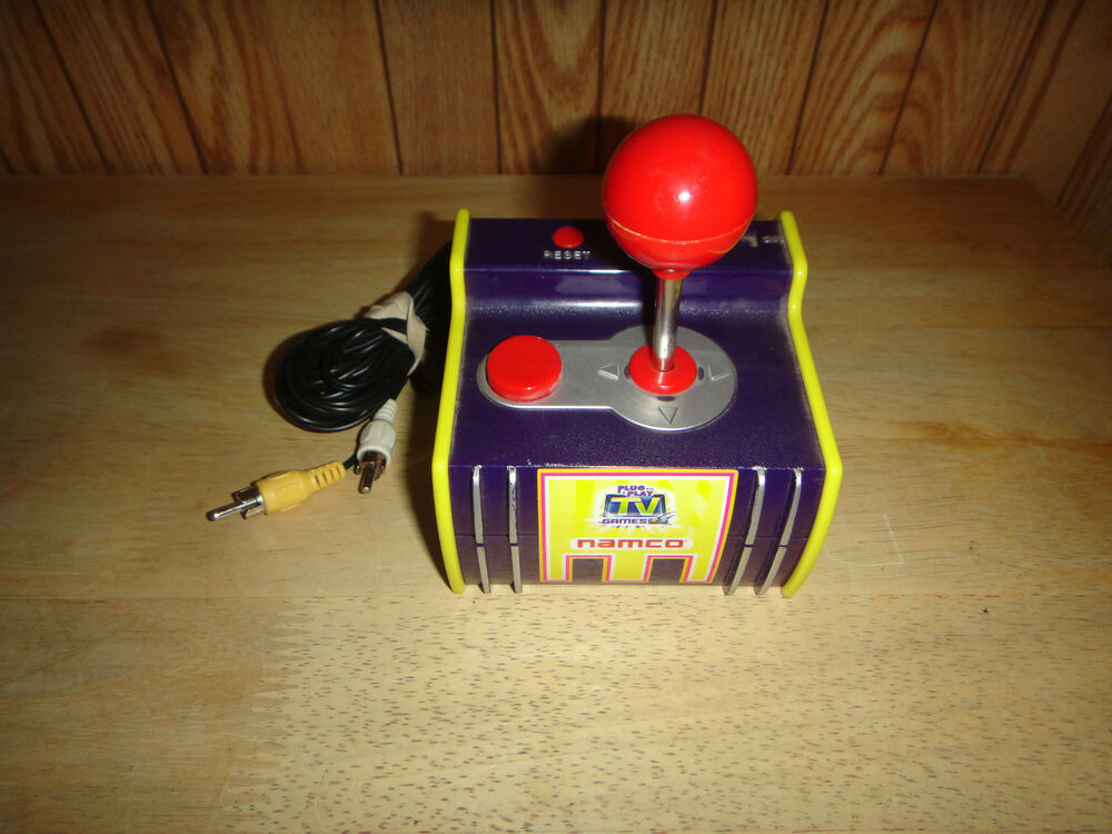 Tv Games Plug And Play : Jakks pacific pac man plug n play tv game namco bosconian