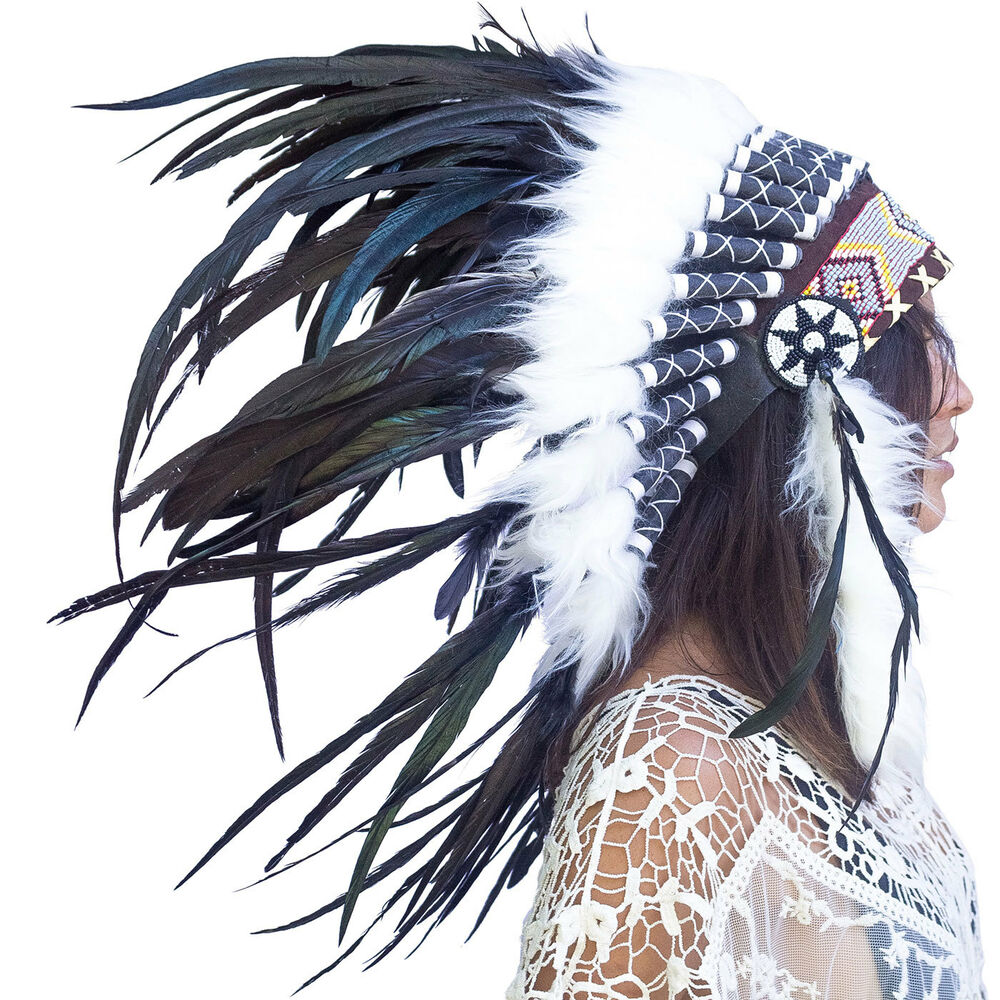 FAST! Feather Headdress -Native American Indian style War ...