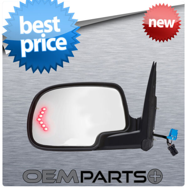 NEW REPLACEMENT DRIVER'S SIDE VIEW MIRROR COMPLETE GLASS POWER SIGNAL FOLDAWAY