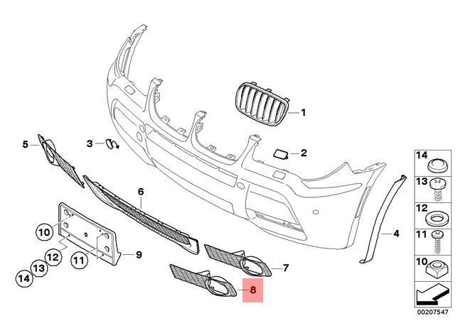 Location Jeep Grand Cherokee Of Airbag Sensor 2004 further 51137205847 further 2010 Toyota Corolla Parts Diagram additionally Bmw X5 Parts Diagram together with 2011 Ford Fiesta Front End Diagram. on bmw x5 front bumper parts