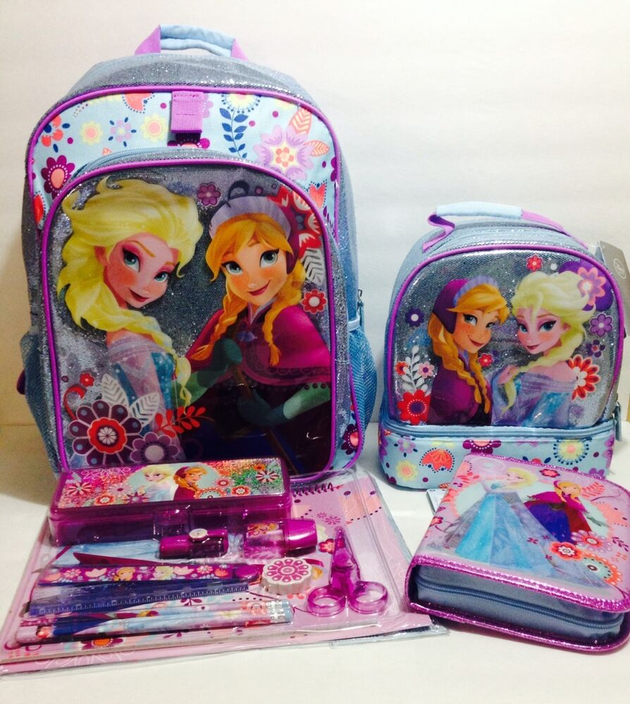 Disney Store Frozen Backpack Lunch Box Tote School