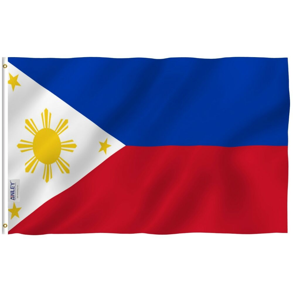 Anley philippine flag philippine banner polyester 3x5 foot country flags ebay - Philippine flag images ...