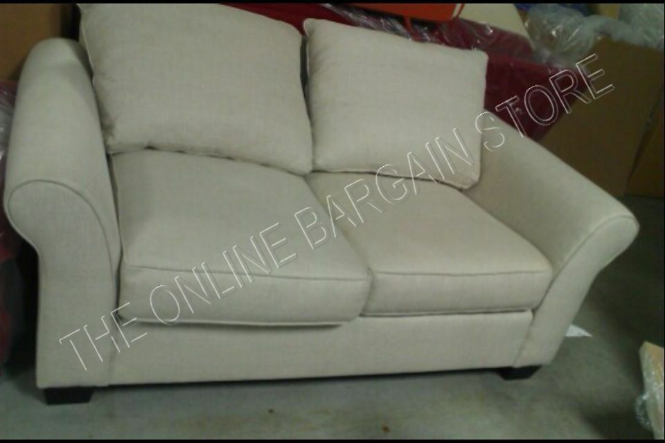 Pottery Barn Comfort Upholstered Sofa Couch LOVESEAT Flax Textured  Basketweave | EBay