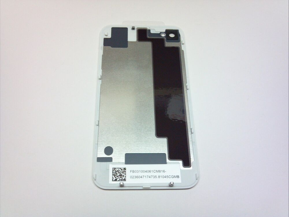 New white oem iphone 4 4g back glass rear door battery for Glass back door