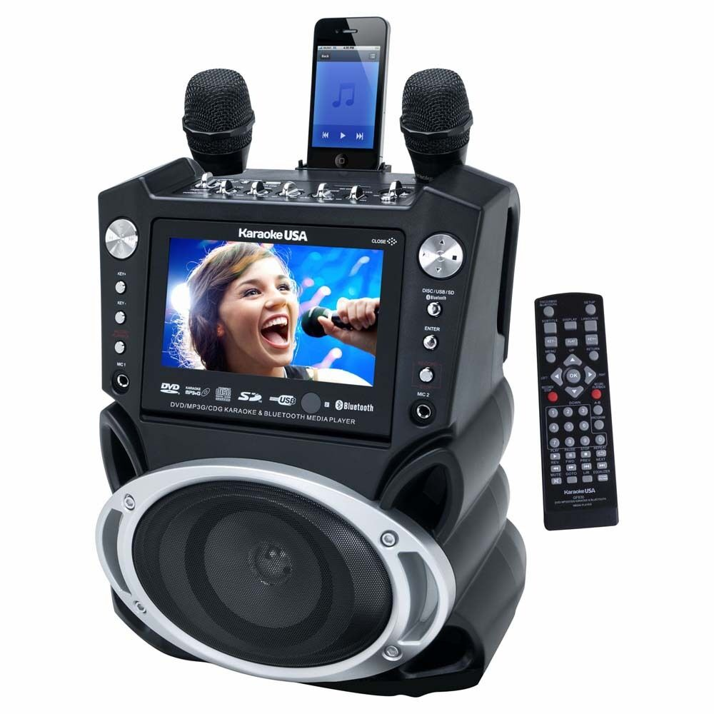 karaoke usa gf830 dvd cdg karaoke player with bluetooth. Black Bedroom Furniture Sets. Home Design Ideas