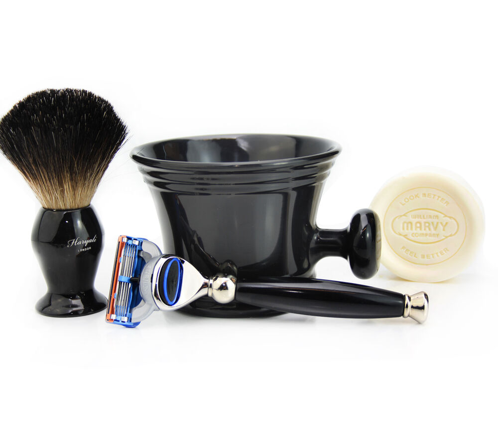 Gillette Fusion Razor Shaving Set Badger Hair Shaving