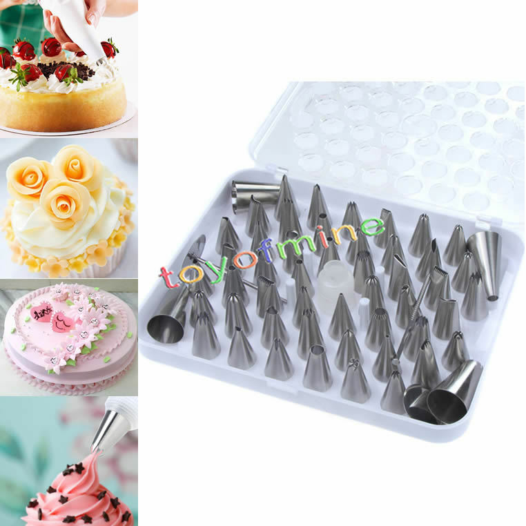 52X Icing Piping Nozzle Pastry Fondant Cake Decorating ...