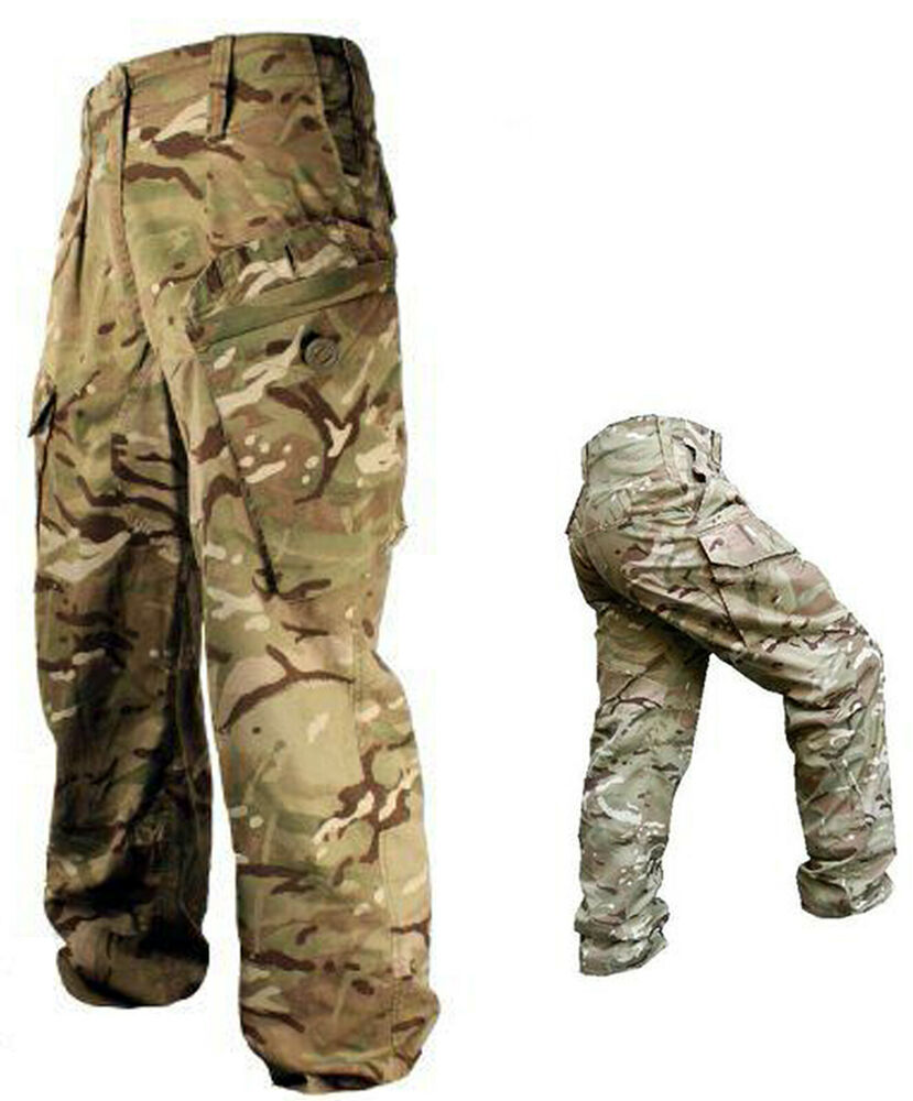 Militaria Men's Clothing Mtp Army Trousers Warm Weather British Army Surplus Combat Lightweight Camo