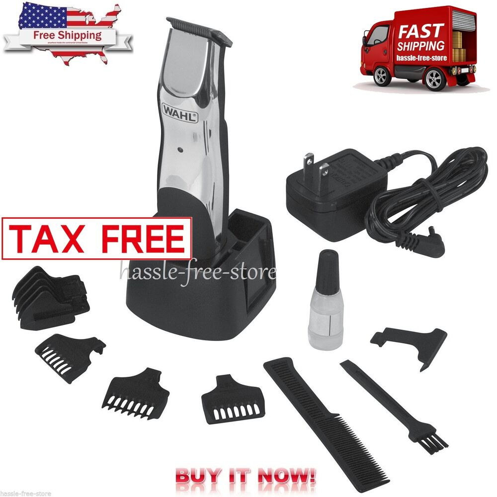wahl beard mustache hair trimmer rechargeable cordless grooming battery operated ebay. Black Bedroom Furniture Sets. Home Design Ideas