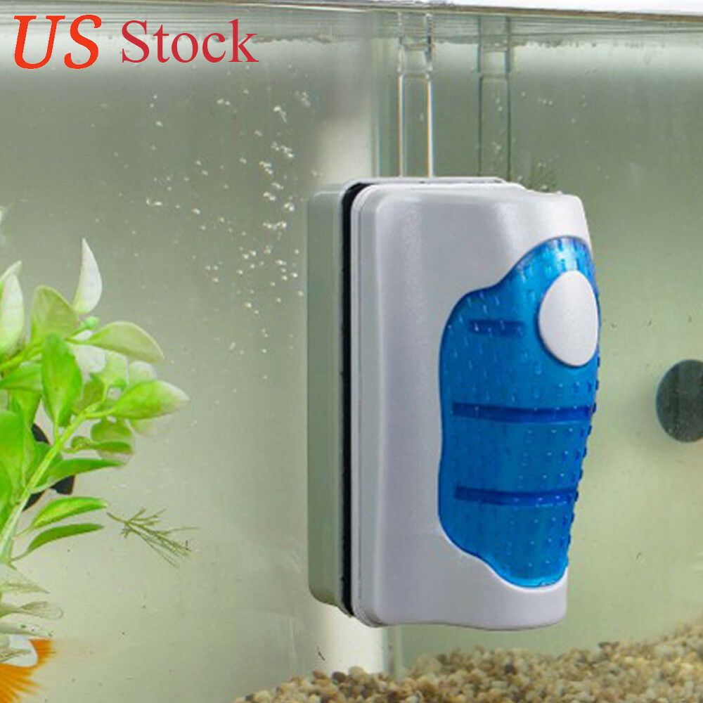 Medium aquarium fish tank floating magnetic glass cleaner for Cleaning algae from fish tank