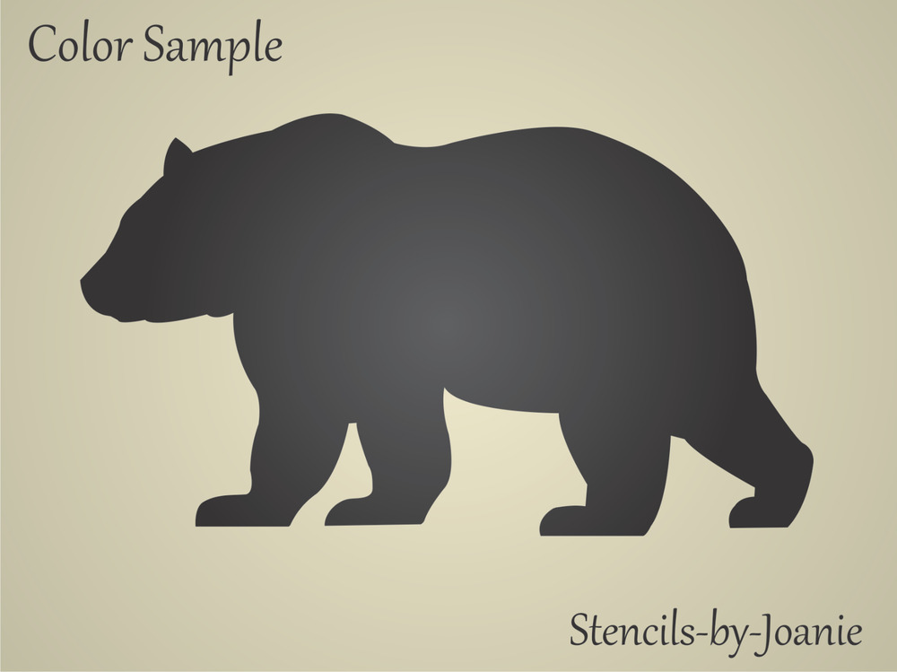 Bear STENCIL Mountain Rustic Outdoor Country Cabin Lodge