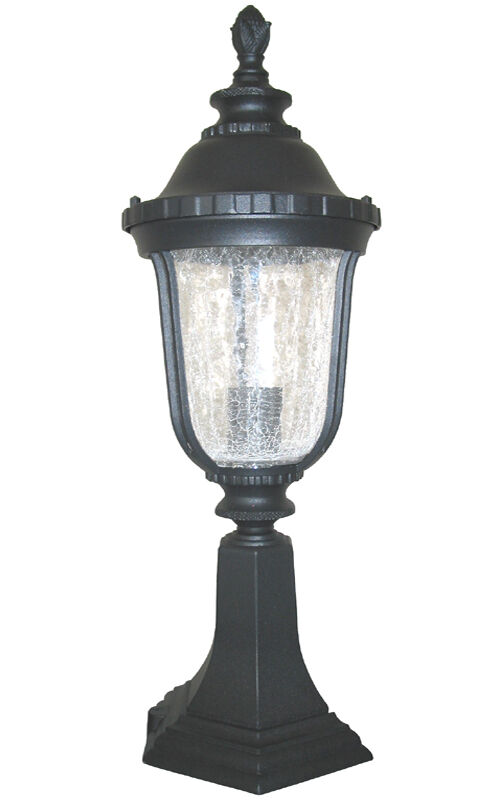 Aluminum Outdoor Exterior Lantern Lighting Fixture Pier Post Black Sconce EBay