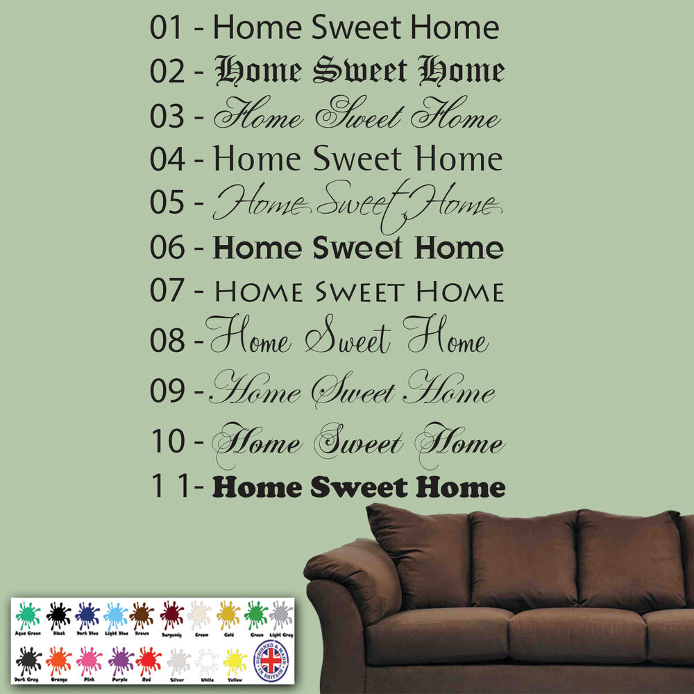 home sweet home wall sticker ebay home sweet home wall sticker