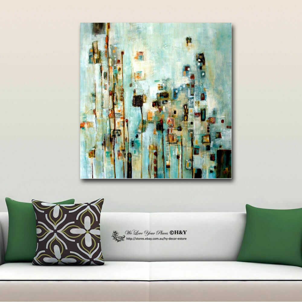 Spruce Home Decor Gift Store: Abstract Stretched Canvas Print Framed Wall Art Home