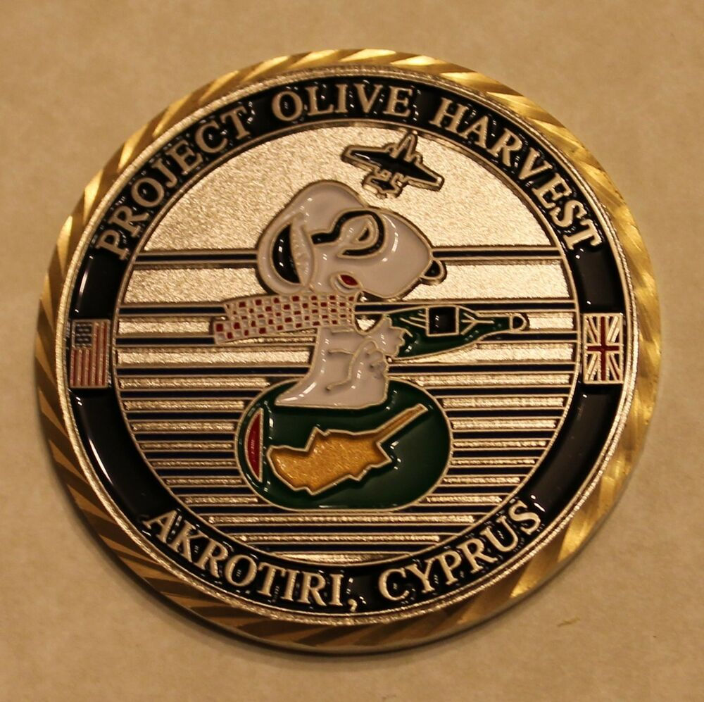 1st Ers U2 Recon Project Olive Harvest Commander Air Force Challenge Coin Cia Ebay
