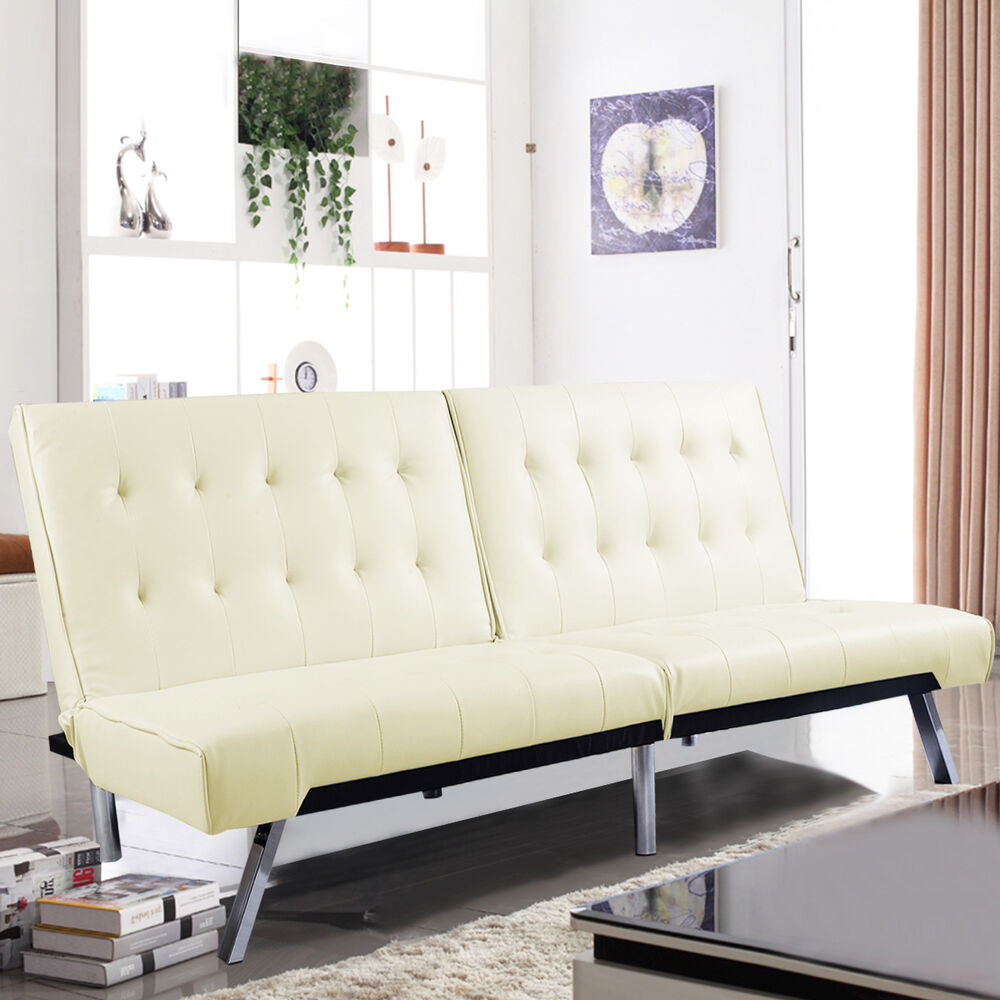 Costway Splitback Futon Sofa Bed Sleeper Couch Living Room