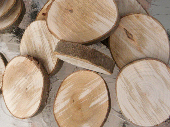 5 Or 10pcs Ash Wood Tree Slice Wedding Centrepiece Rustic