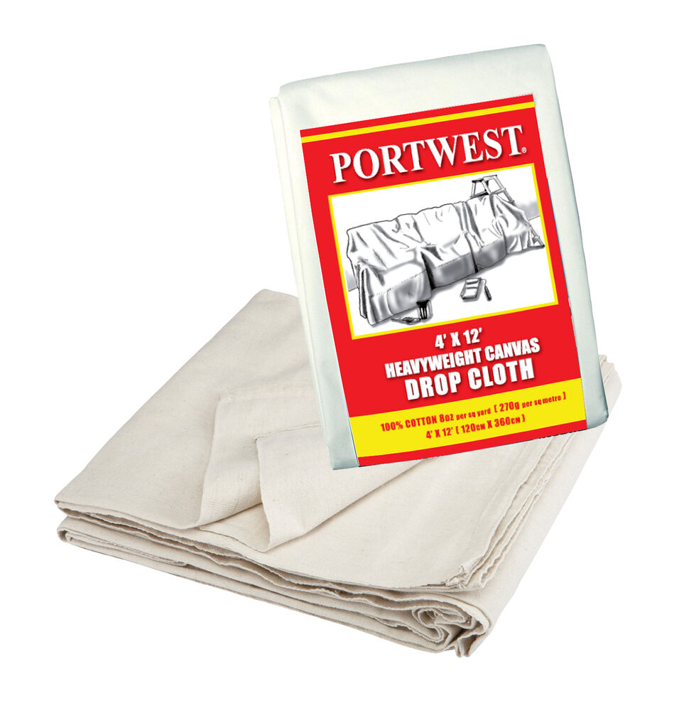 Heavy Duty Canvas Drop Cloth 4 39 X 12 39 Protection Painter