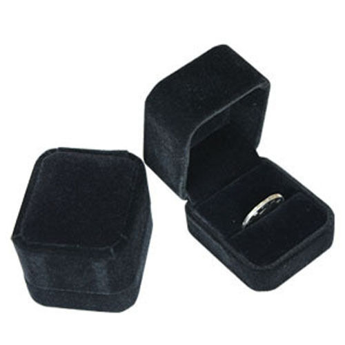 Wedding Ring Gift Box : Luxury Velvet Black Engagement Wedding Ring Gift Box eBay