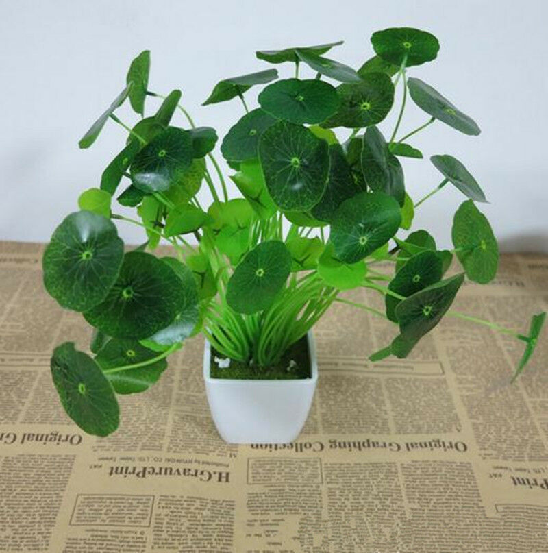 Green plants decor casual fake artificial flower floral for Artificial leaves for decoration