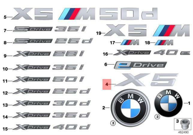 genuine bmw f15 suv trunk lid x5 emblem badge logo sign oem 51147294466 ebay. Black Bedroom Furniture Sets. Home Design Ideas