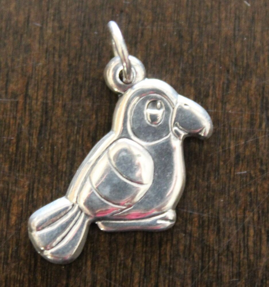 James Avery Sterling Silver Girl Scout Cookies 1990 Parrot