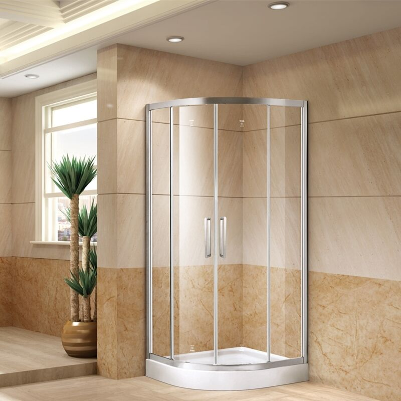 Bathroom Sliding Glass Doors: Quadrant Shower Enclosure Room Toughen Tempered Glass