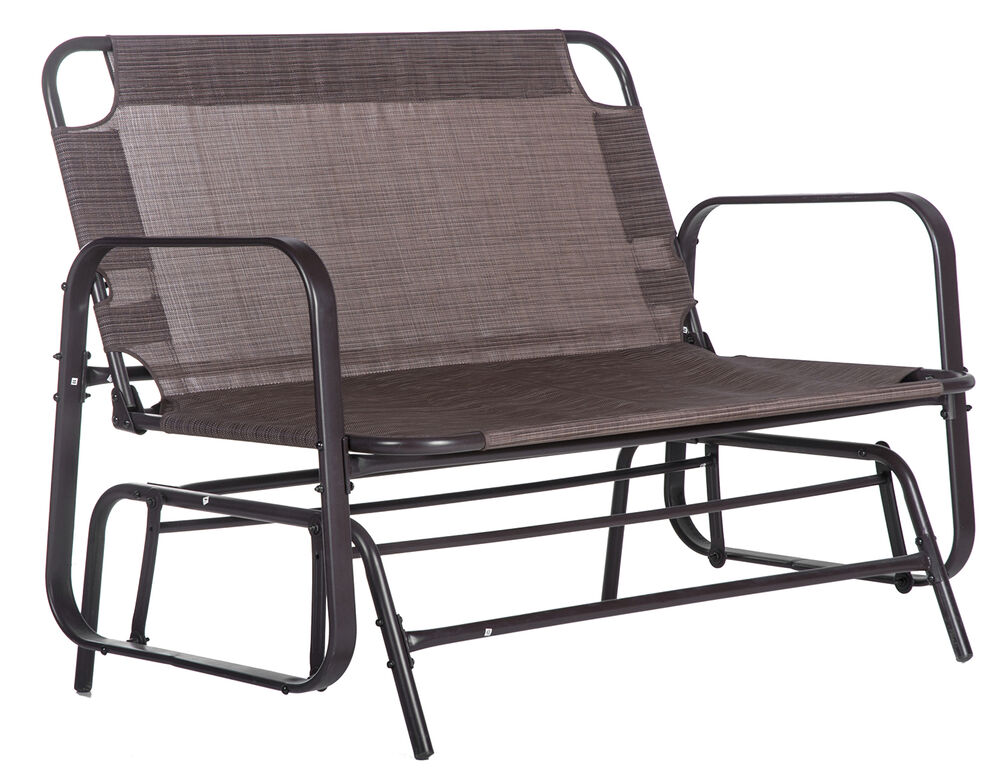 SALE Merax Patio Loveseat Glider Rocking Chair Garden Outdoor Bench Bronze