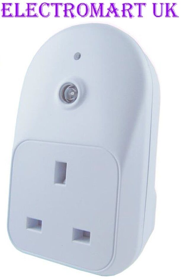 Plug In Light Sensor Timer Photocell Energy Saving